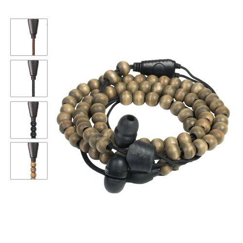 [5/1前輸入序號現折$88]   Wraps【Natural】時尚自然系手環耳機原木 0