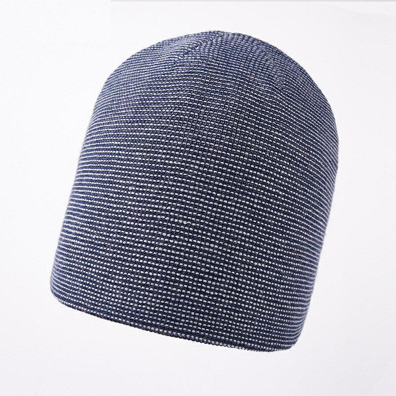 毛帽羊毛針織帽-點點提花捲邊包頭男帽子4色73wj43【獨家進口】【米蘭精品】 0