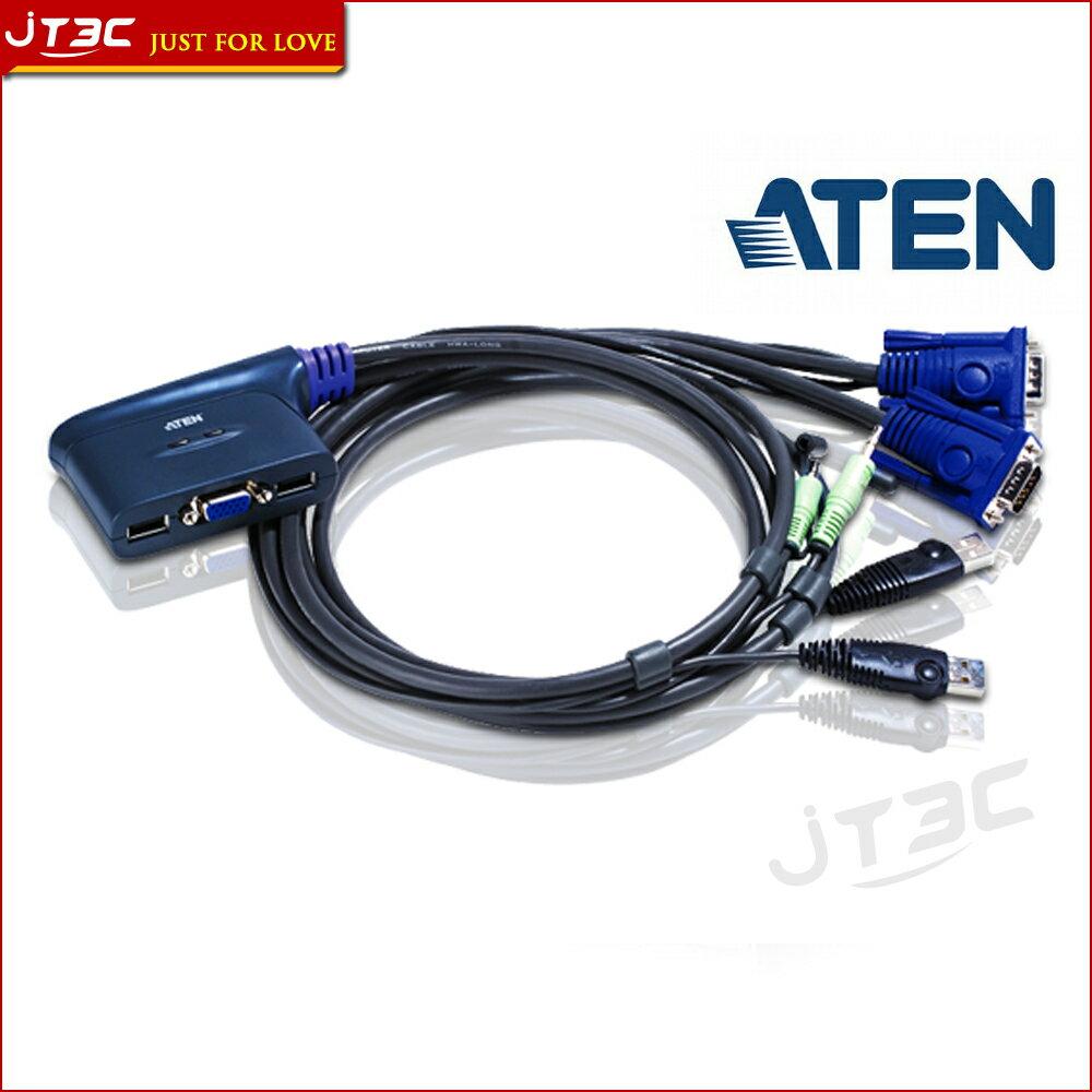 【最高折$1200+最高回饋25%】ATEN 宏正 CS62U 2埠 USB KVM 多電腦切換器 含音效