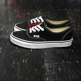 VANS Authentic BLACK 黑白 黑色 帆布 基本款 薄內裡 滑板鞋