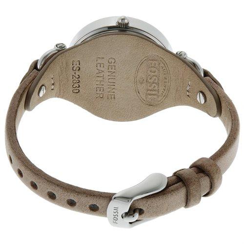 Fossil Women's ES2830 Beige Leather Analog Quartz Watch with Beige Dial 2