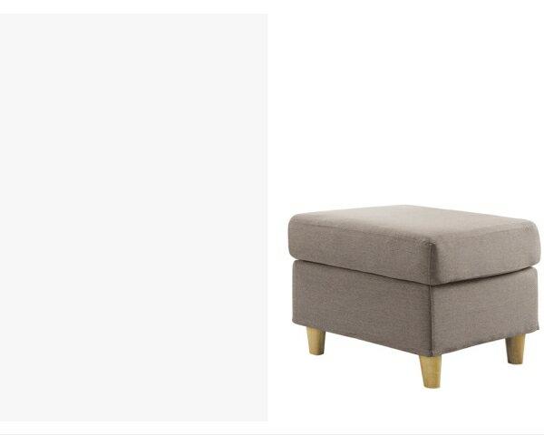 【YUDA】傑西 獨立筒坐墊 亞麻布 淺咖啡 左右L型 布沙發/沙發椅(附抱枕2個.腳椅) I0X 294