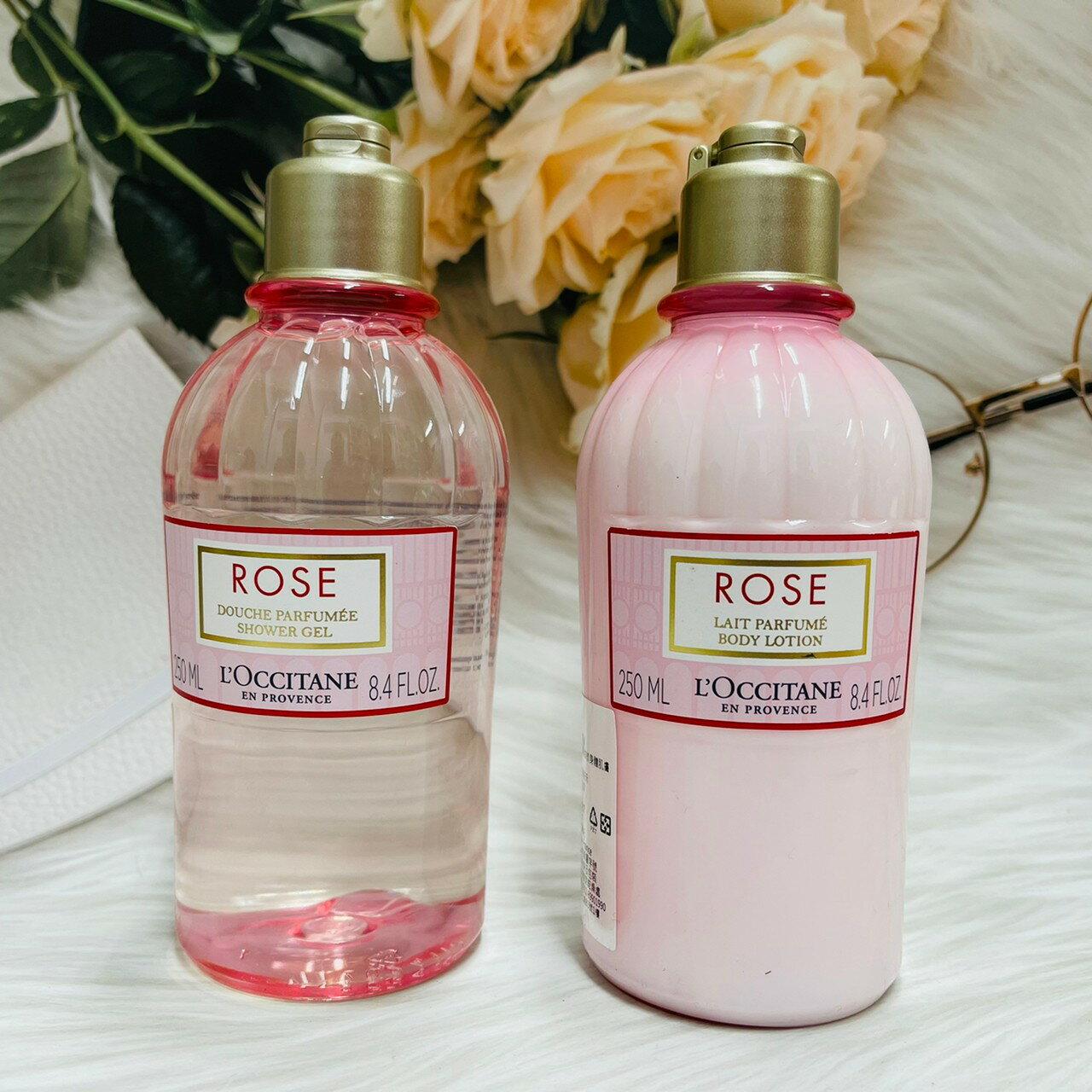 L'OCCITANE 歐舒丹 玫瑰皇后身體乳/玫瑰沐浴膠  250ml