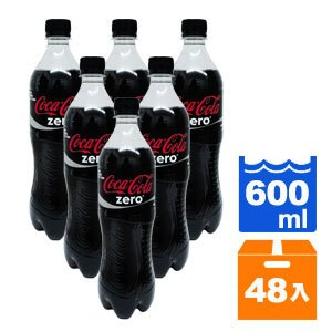 可口可樂 zero 零熱量 600ml (24入)x2箱 0