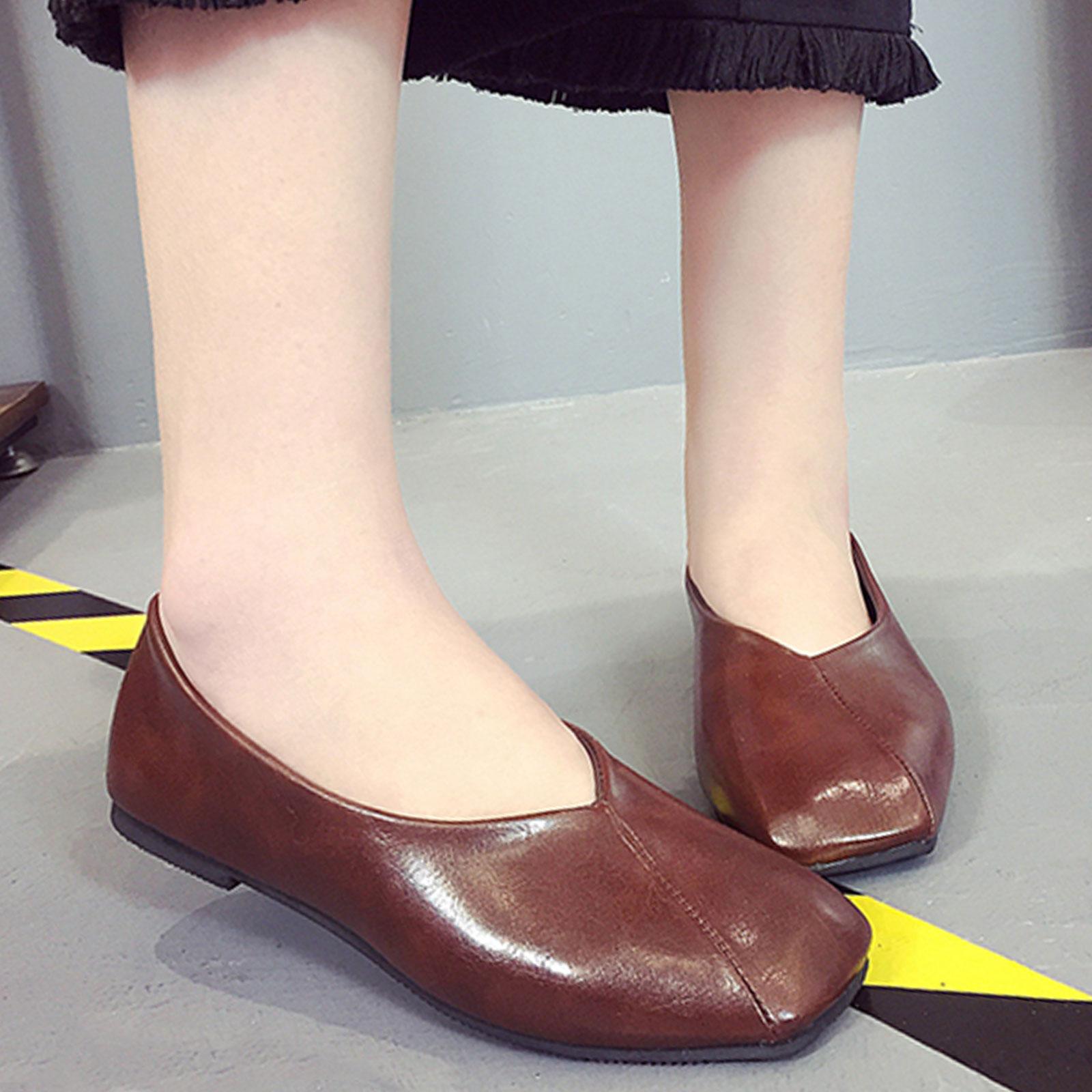 懶人鞋 奶奶鞋 韓版復古淺口方頭懶人鞋【S1681】☆雙兒網☆ 5
