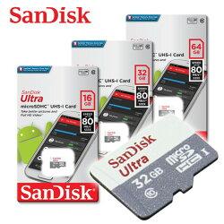 SANDISK NEW ULTRA 80MB /s micro SDHC / SDXC UHS-I 記憶卡