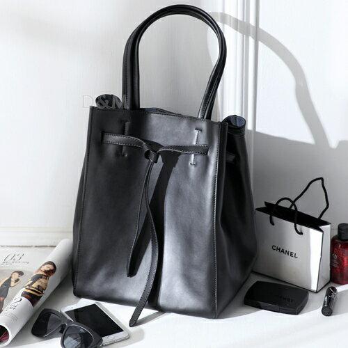D&M真皮扭結側背包大方包 英倫時尚牛皮通勤包手提包/托特包/媽媽包【B11103】