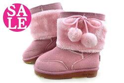 ISAO 正韓雪靴 絨毛球球百搭時尚 保暖設計內層全鋪毛真皮雪靴 K8078#粉紅◆OSOME奧森鞋業