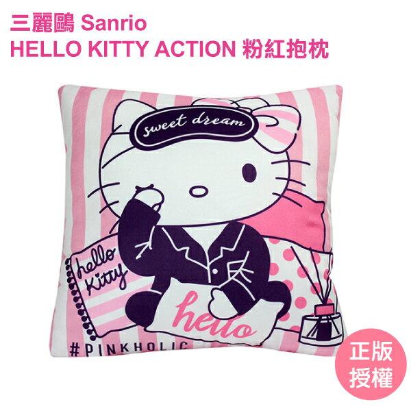 HELLO KITTY粉紅抱枕