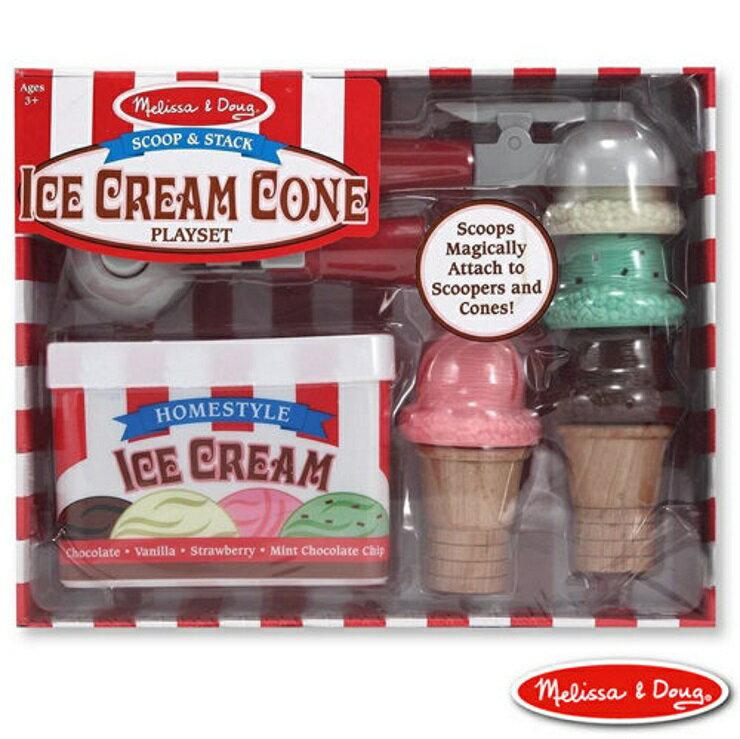 美國瑪莉莎 Melissa & Doug 木製玩食趣磁力冰淇淋甜筒組【寶貝樂園】