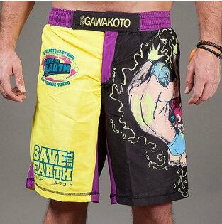 [古川小夫]L1碼健身房UFC康貝褲~英國潮牌,東京設計師~運動MMA短褲-短袖-拯救地球系列