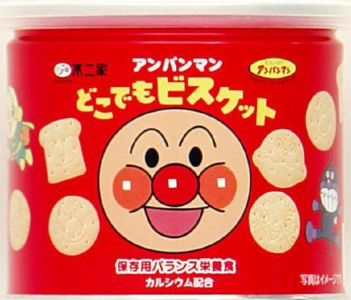 有樂町進口食品 日本進口 【不二家】麵包超人造型餅乾保存罐(60g) 4902555132792