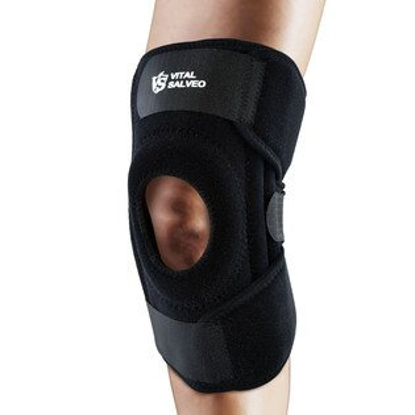 9.5吋加長型可調式鍺能量護膝(單支入)運動防護復健鍺有氧健身跑步慢跑路跑籃球羽球自行車登山膝蓋痛運動護具【VITALSALVEO】
