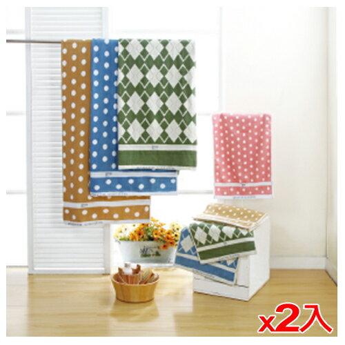 ~2件 組~絕美 毛巾~綠色 34~76cm ~愛買~