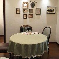 鄉村風zakka雜貨到✤宜家✤時尚可愛空間餐桌布 茶几布 隔熱墊 鍋墊 杯墊 餐桌巾 638 (直徑100cm)