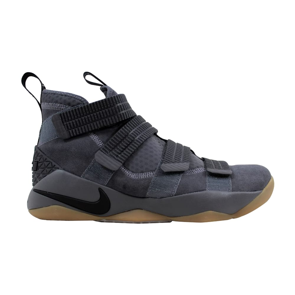 the latest c4f8c d0939 Nike Lebron Soldier XI 11 SFG Dark Grey/Black-Circuit Orange 897646-003  Men's Size 9.5