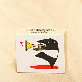 「Kodomo小孩牌」動物樂團印章-馬來膜吹小號