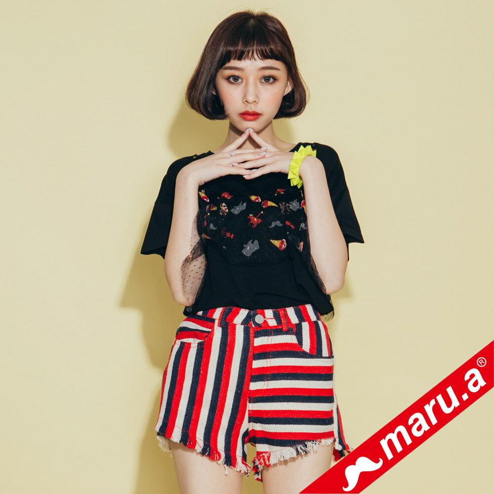 【maru.a】超美印花上衣(兩色)8311229 2