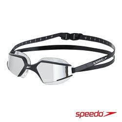 ║speedo║成人進階泳鏡Aquapulse Max 2鏡面-黑銀