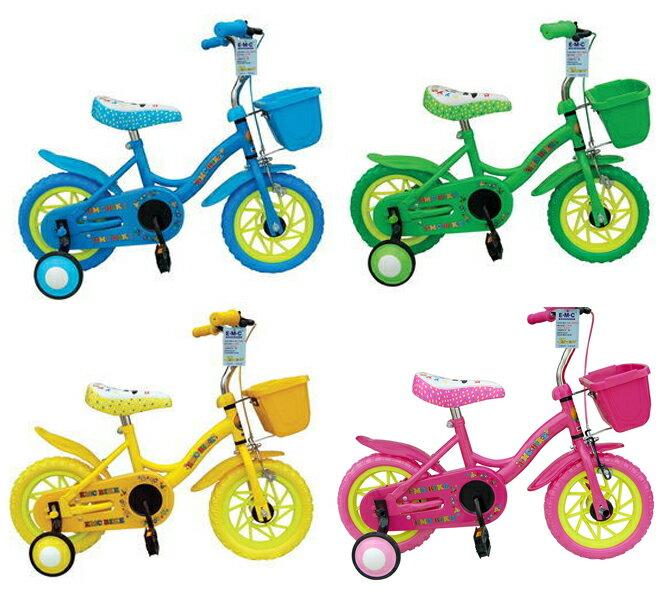 EMC附前藍小飛俠兒童腳踏車(水藍、淡綠、黃色、粉)【德芳保健藥妝】
