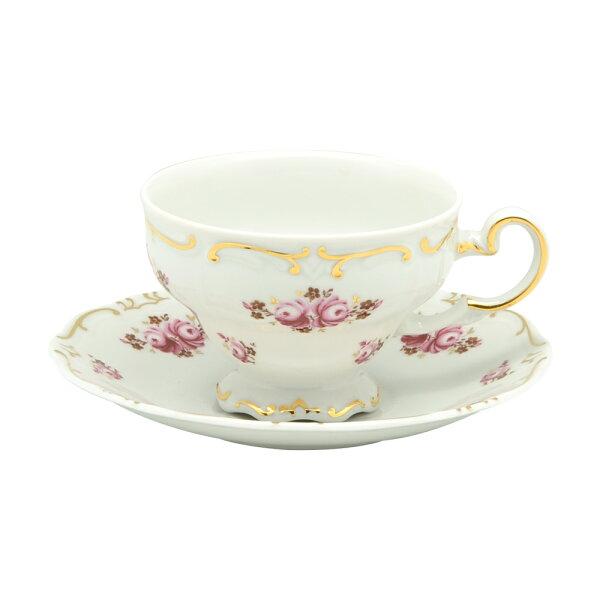 德國Weimar凱瑟琳娜玫瑰系列-210ML咖啡花茶杯盤組