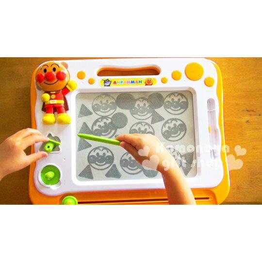 〔小禮堂嬰幼館〕麵包超人 塗鴉畫板玩具《橘盒裝.站姿.圓圈》黑白字體磁性畫板