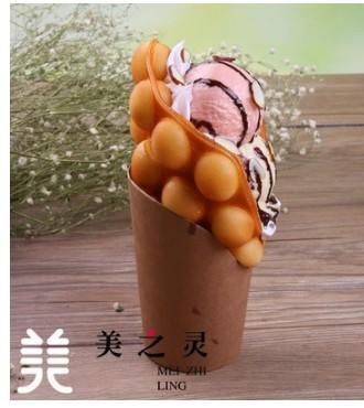 仿真杏仁冰淇淋雞蛋糕模型