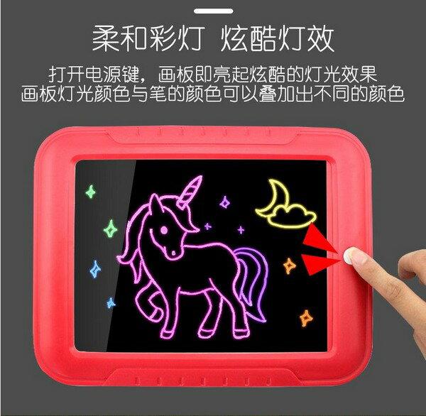 3D魔術燈光 寫字板 螢光畫畫板(附電池) / 一個入(促350) 777 塗鴉畫畫板-CF147681 2