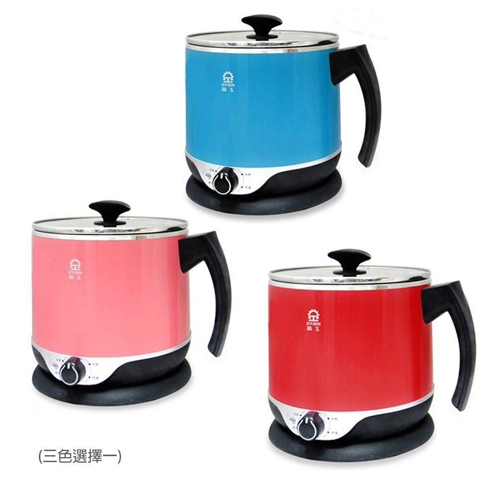 <br/><br/>  【晶工】2.2公升多功能不鏽鋼電碗(紅/粉色) JK-201<br/><br/>