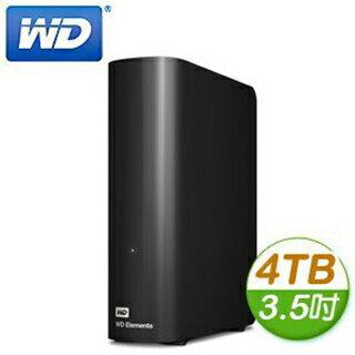 【隔日出貨】WD 威騰 Elements 4TB 3.5吋 USB3.0 外接式硬碟