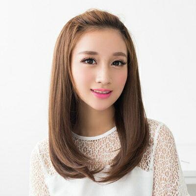 【米蘭精品】長假髮整頂假髮-內彎蓬鬆中長直髮女假髮6款73rr10
