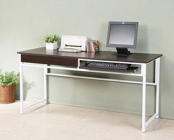 160公分穩固耐用電腦桌(附抽屜+鍵盤架)工作桌書桌【馥葉】【型號DE1660KDR】可加購玻璃、側桌