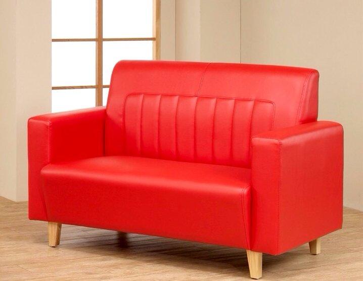 !新生活家具! 皮沙發 紅色 出租套房 二人座沙發 雙人沙發 七色可選 《熱烈之愛》 工廠直營 臺灣製造 非 H&D ikea 宜家