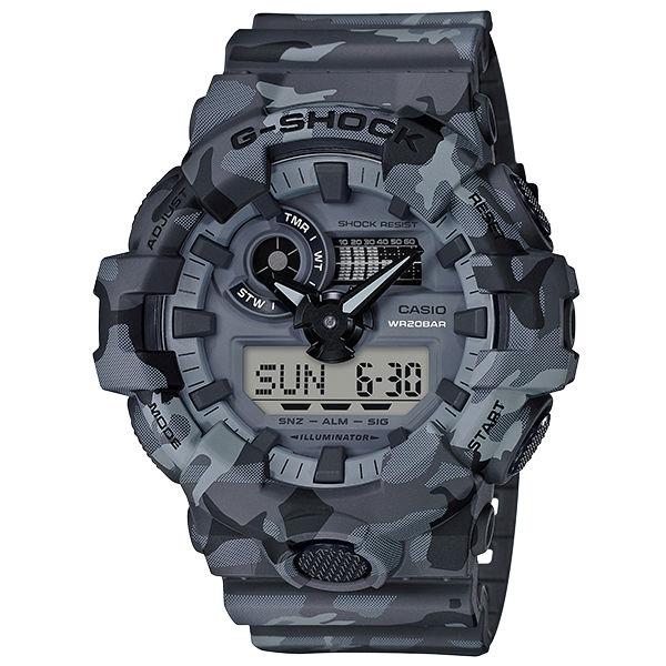 CASIOG-SHOCKGA-700CM-8A軍力迷彩流行雙顯腕錶53mm