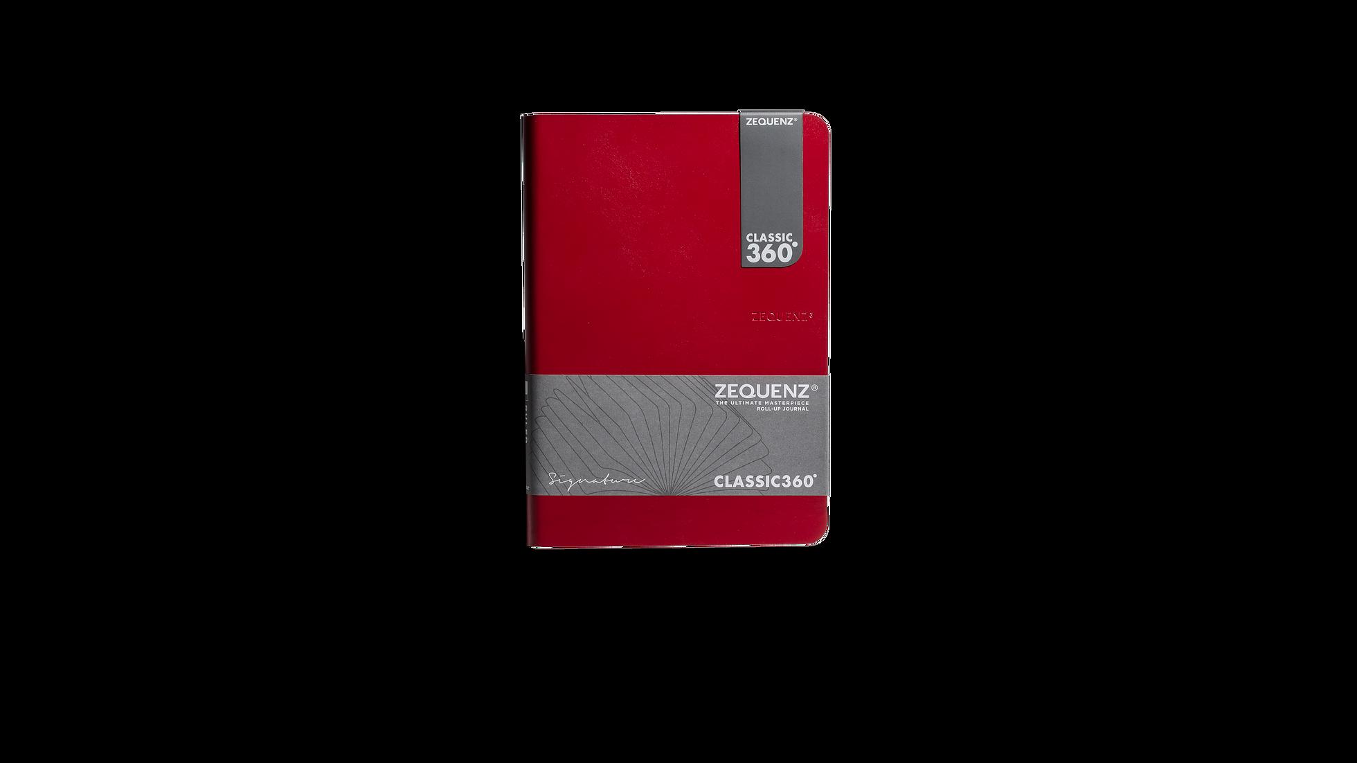 ZEQUENZ 360  輕量可摺疊方眼筆記本(B6)(紅色)