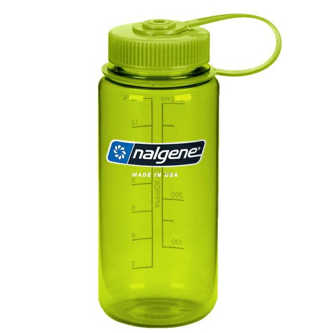 Nalgene 寬嘴水壺/運動水瓶/寬口瓶 Tritan 500cc 美國製 682009-0571 春綠