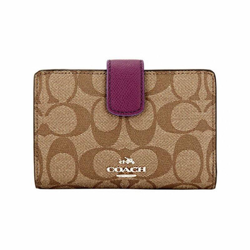 【COACH】 F53562 經典錢包女式新款C紋短款錢包