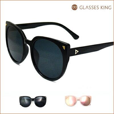 眼鏡王☆時尚造型金屬鉚釘裝飾設計潮流正妹型男夏日海邊墨鏡太陽眼鏡黑色反光水銀粉S290