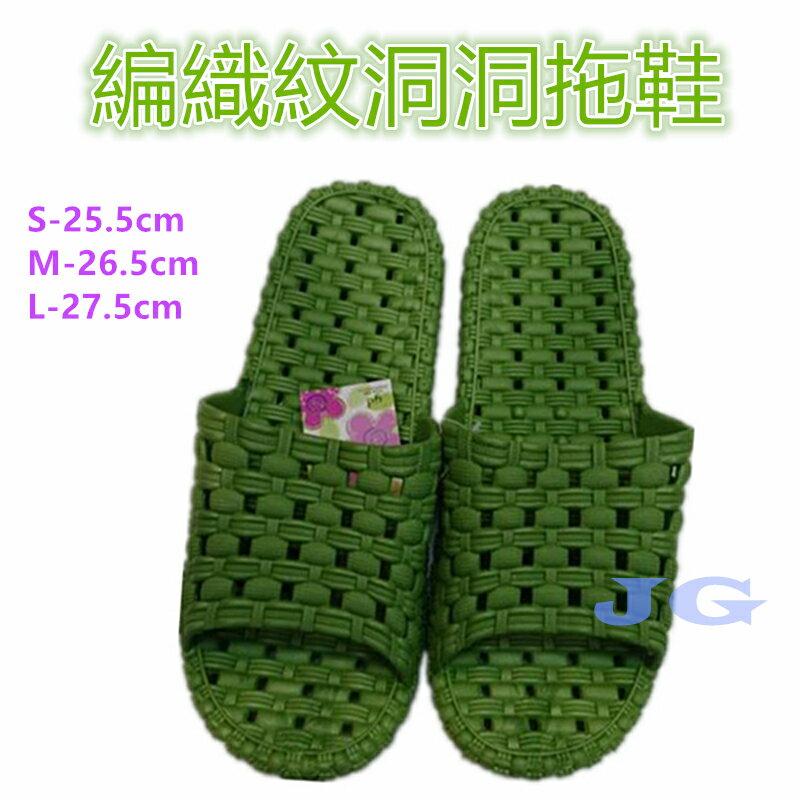 編織紋洞洞拖鞋男女拖鞋尺寸:25.5-27.5CM 寬版一體成型防滑防水室內外男女拖鞋,可當浴室拖鞋。 簡約有型,防水防滑