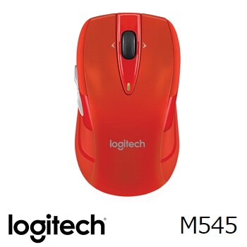 Logitech 羅技 M545無線滑鼠- 紅色(910-004330)★★★ 全新原廠公司貨含稅附發票★★★