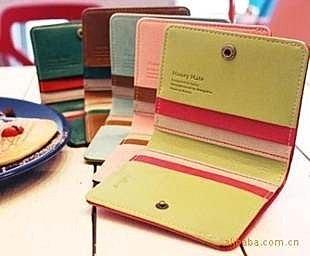 =優 =韓國女生短款卡包 多色皮夾 拼色小錢包 ~  好康折扣