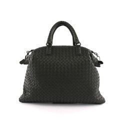 【BV/ BOTTEGA VENETA】小羊皮CONVERTIBLE編織手提肩背二用包 (黑色) 354216 V0016 8175
