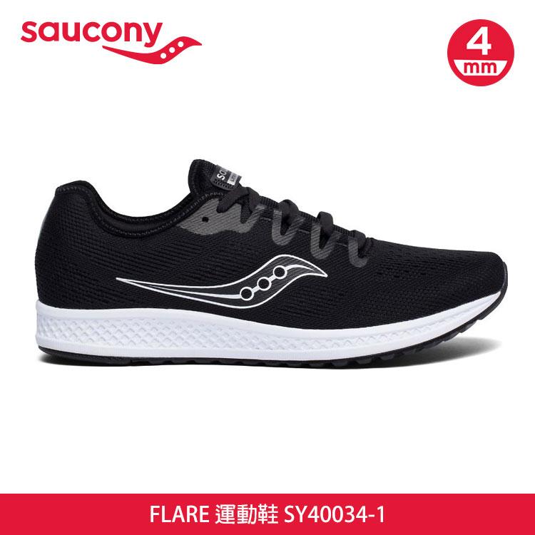 saucony 男 FLARE 運動鞋SY40034-1【黑色】  /  城市綠洲 (跑鞋、運動鞋、EVERUN) 0
