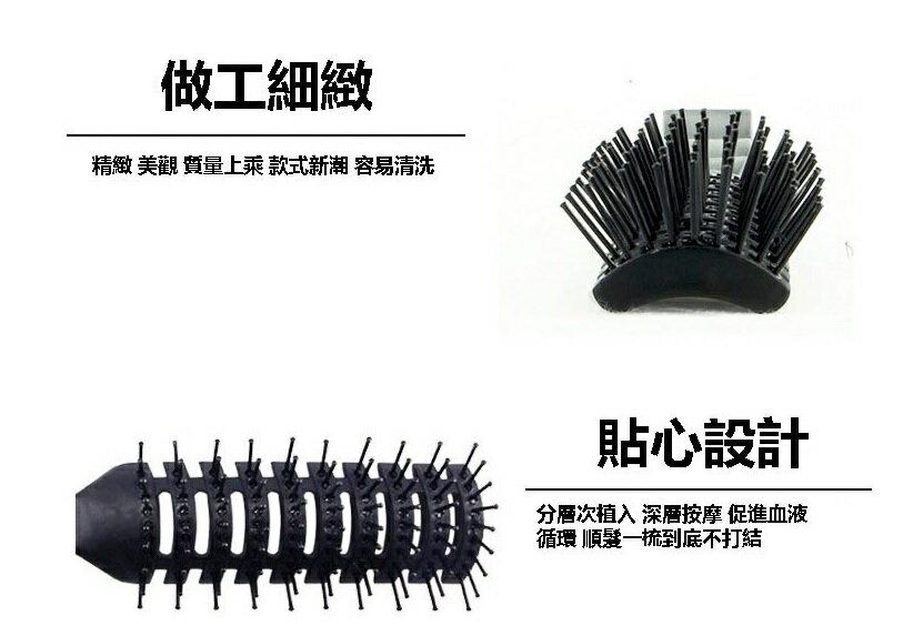 PS Mall 髮廊專業耐高溫防靜電卷髮美髮九排排梳子【H340】 6