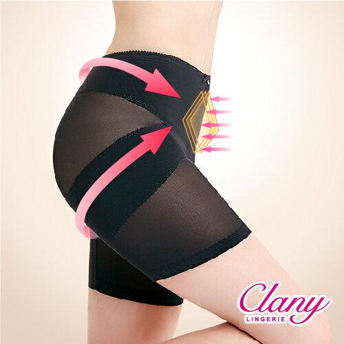 可蘭霓內衣:【可蘭霓Clany】美尻平腹機能M-Q(2XL)骨盆褲(神秘黑1956-63)