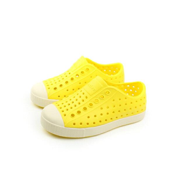 native JEFFERSON 洞洞鞋 童鞋 黃色 小童 no537