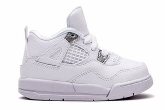 AIR JORDAN RETRO 4 PURE MONEY 白 小童鞋 US 1~13.5 308499-100 D