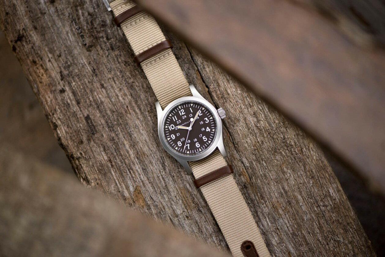 Hamilton 漢米爾頓 Khaki Field 卡其野戰系列軍事腕錶 H69429901 卡其色系 38mm 5