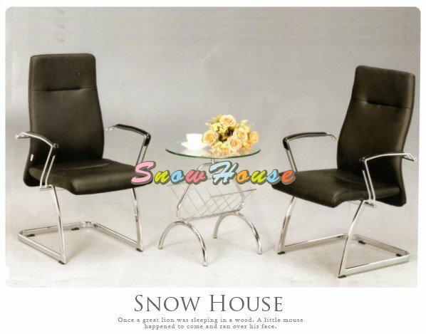 ╭☆雪之屋居家生活館☆╯AA328-05JL-565C-1造型椅(電鍍黑皮)洽談椅辦公椅會議椅單張椅子