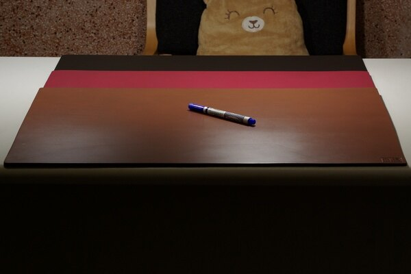皮革牛皮皮製真皮皮墊辦公桌墊皮辦公桌墊 褐色